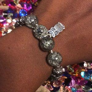 Meaning glass Elastic bracelet